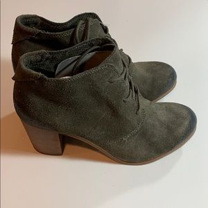 Toms Lace up booties Woman's Size 8